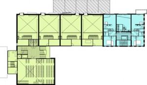 Plattegrond derde verdieping schaal 1:600