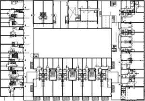 Plattegrond eerste verdieping schaal 1:1000