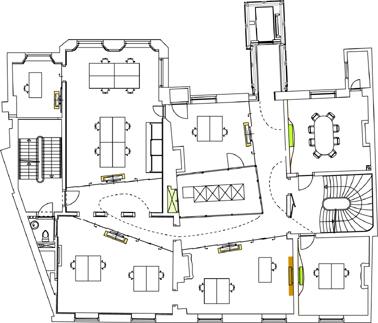 Plattegrond derde verdieping schaal 1:400