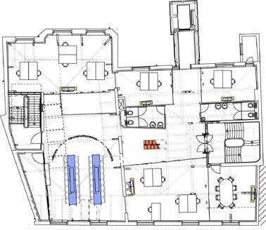 Plattegrond 4e verdieping schaal 1:400