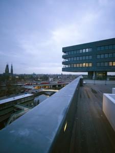 Fraai uitzicht vanaf het gemeenschappelijke dakterras
