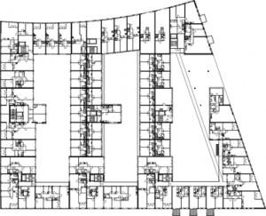 Plattegrond tweede verdieping 1:1250