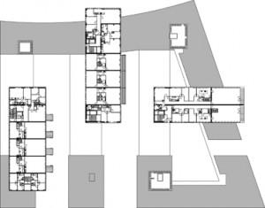 Plattegrond zevende verdieping 1:1250