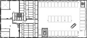 Plattegrond tweede verdieping 1:1000