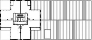 Plattegrond standaard verdieping 1:1000