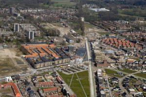 Luchtfoto Roombeek 2008, met Prismare, Twentse Welle, Eekenhof, Het Rozendaal.
