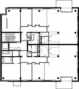 Plattegrond eerste en tweede verdieping 1:400