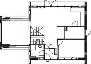 Plattegrond benedenverdieping 1:250