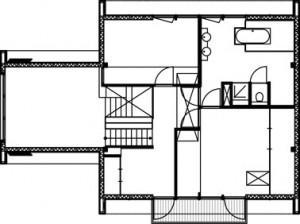 Plattegrond bovenverdieping 1:250