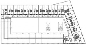 Plattegrond derde verdieping 1:1000