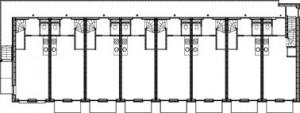 Plattegrond eerste verdieping 1:400