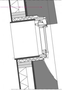 Detail verticaal rietdak 1:50