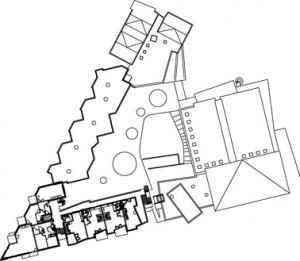 Plattegrond tweede verdieping 1:2000