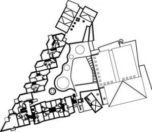 Plattegrond eerste verdieping 1:2000