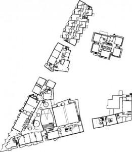 Plattegrond derde verdieping 1:2000