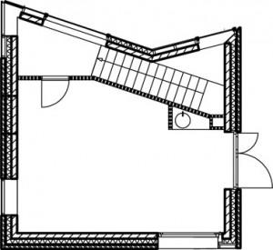 Plattegrond tweede verdieping 1:250