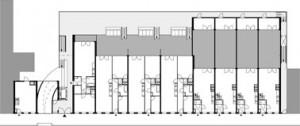 Plategrond eerste verdieping 1:500