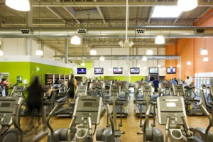Interieur van Fitness First