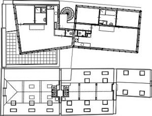 Plattegrond derde verdieping 1:400