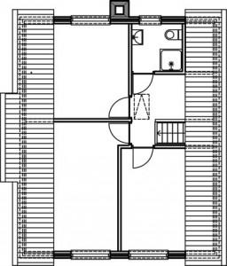 Plattegrond eerste verdieping 1:250