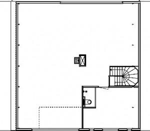 Plattegrond derde verdieping 1:300