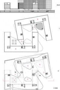 Plattegronden begane grond en verdieping 1:1250