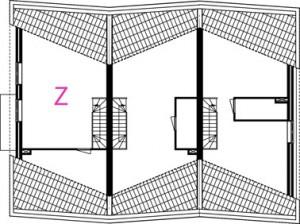 Plattegrond tweede verdieping 1:400