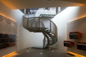 trap graphic design museum Breda Hans van Heeswijk architecten. Luuk Kramer