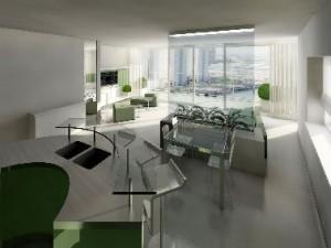 De appartementen bieden een fenomenaal uitzicht naar het westen Impressie Taco Pino