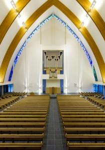 Kerkzaal naar het zuiden