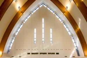Noordwand kerkzaal