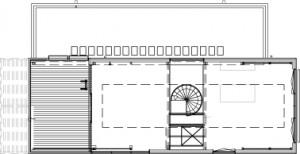 Plattegrond verdieping nieuwe situatie 1:250