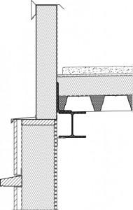 Verticale doorsnede dak en gevel 1:20