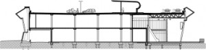 Doorsnedes 1:750, as 71 (tweelaagse bouwmarkt)