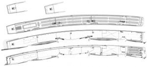 Plattegronden begane grond en eerste t/m vierde verdieping 1:5000