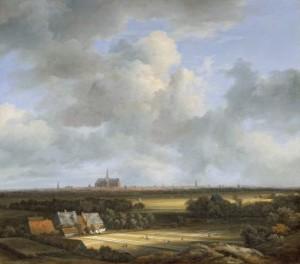 Inspiratiebron voor Baldeweg: Jacob van Ruisdaels Gezicht op Haarlem met bleekvelden, ca. 1670-1675. Mauritshuis, Den Haag