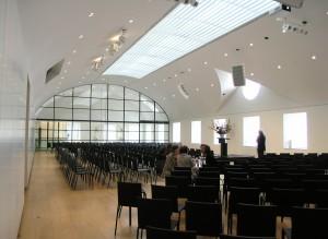 Auditorium op tweede verdieping van de tuinvleugel. Foto Jacqueline Knudsen