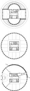 Plattegronden begane grond, tweede t/m achtste en elfde verdieping 1:400