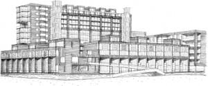 7 Ontwerpschets Joris Molenaar, zuidoosthoek Akropolishof
