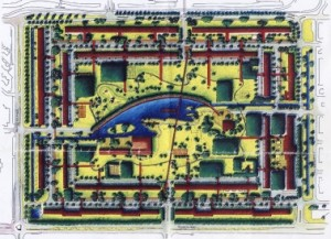 12 Masterplan Prinsenhof Kuiper Compagnons, met de Dillenburgh rechtsboven