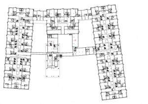 12 Plattegrond 1e verdieping 1:1250