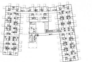 13 Plattegrond 4e verdieping 1:1250