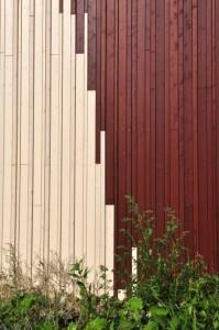 6 Speelse overgang van twee kleuren hout