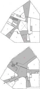 11 Plattegronden begane grond en verdieping 1:400