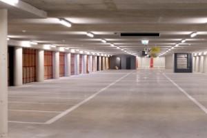 6 Parkeerniveau met diagonaal parkeren