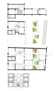 9 Plattegronden begane grond en verdieping plus doorsnede 1:250