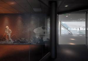 Vergaderruimte met ruimtevaartmotief