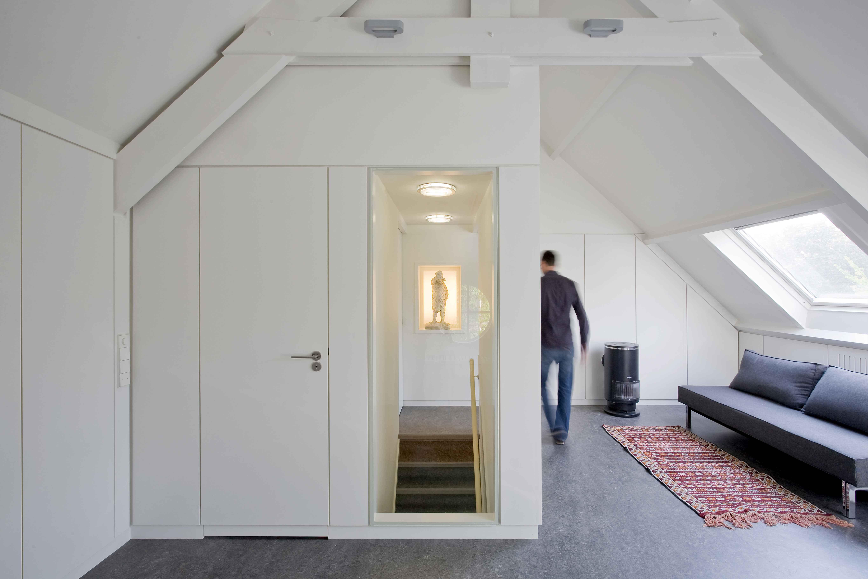 Transformatie bergzolder tot appartement architectuur.nl