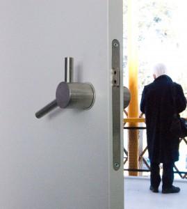 In het hotel zijn deurknoppen Vault toegepast, naar ontwerp van Janjaap Ruijssenaars. Foto Jacqueline Knudsen.