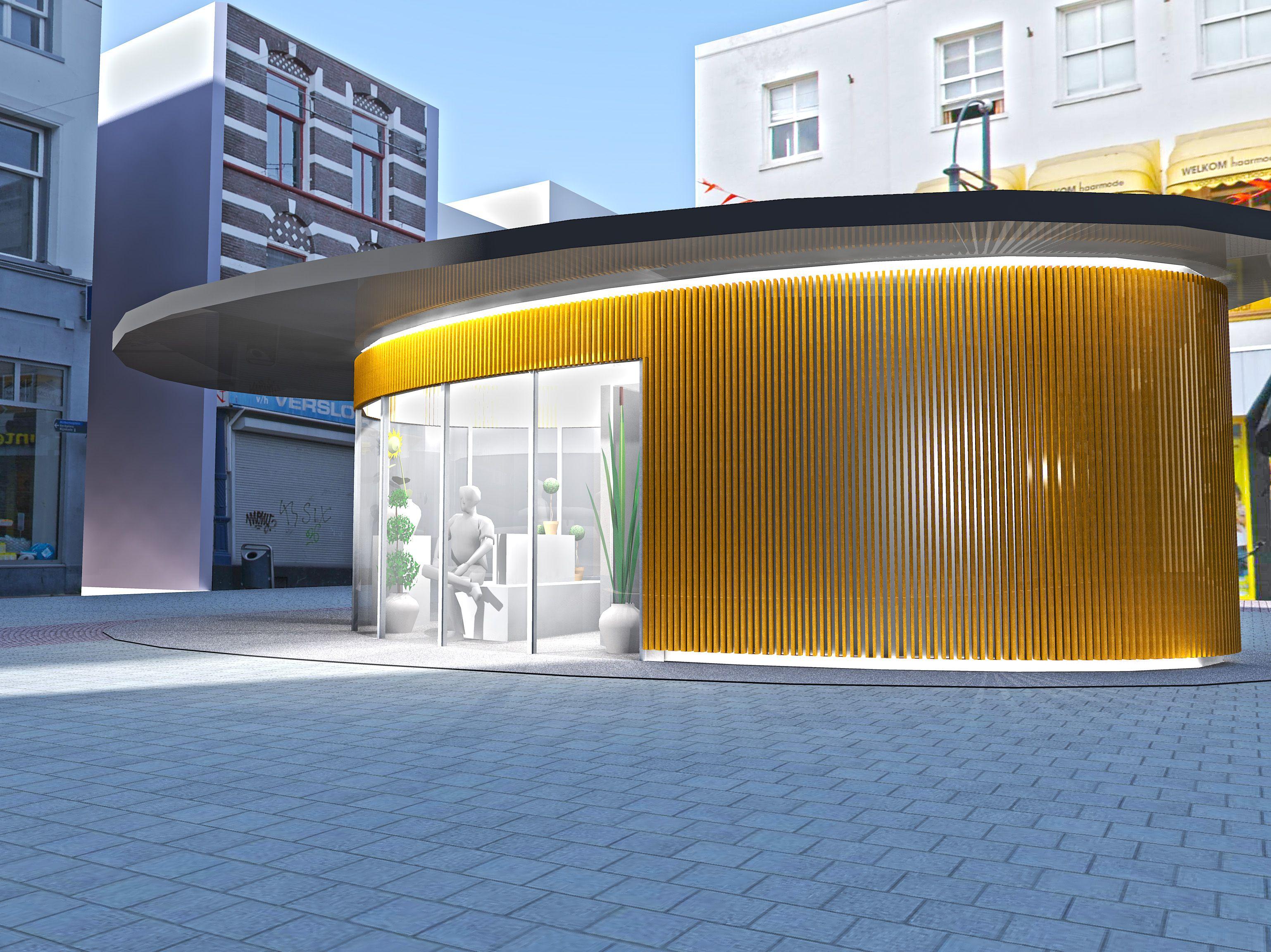 Ongebruikt Ontwerp bloemenkiosk 'De Stek' - Architectuur.nl QZ-08